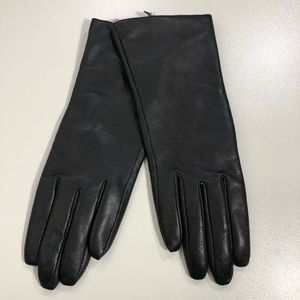 Nordstrom Womens Leather Cashmere Lined Gloves
